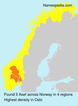 Surname Asef in Norway