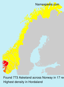 Surname Askeland in Norway