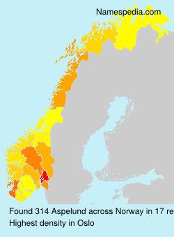 Surname Aspelund in Norway