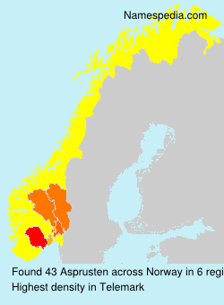 Surname Asprusten in Norway