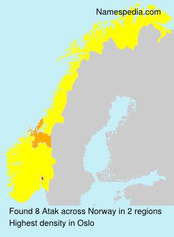 Surname Atak in Norway