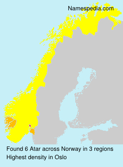 Surname Atar in Norway
