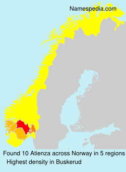 Surname Atienza in Norway
