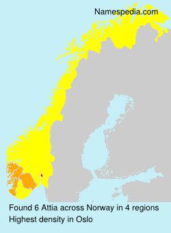 Surname Attia in Norway