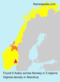 Familiennamen Aubry - Norway