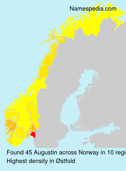 Surname Augustin in Norway