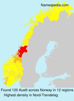 Surname Austli in Norway
