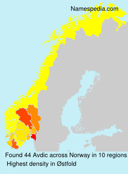 Surname Avdic in Norway