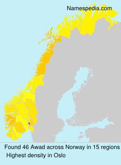 Surname Awad in Norway