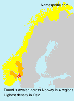 Surname Awaleh in Norway