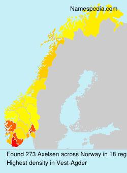 Familiennamen Axelsen - Norway