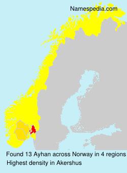 Surname Ayhan in Norway