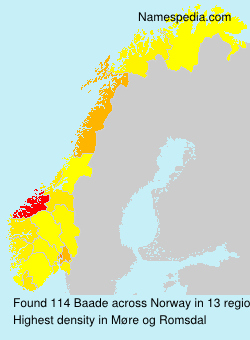 Surname Baade in Norway