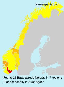 Surname Baas in Norway