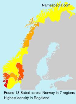Surname Babai in Norway