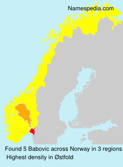 Surname Babovic in Norway