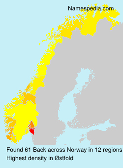 Surname Back in Norway