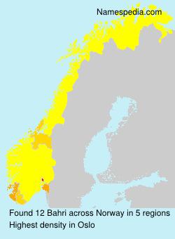 Surname Bahri in Norway