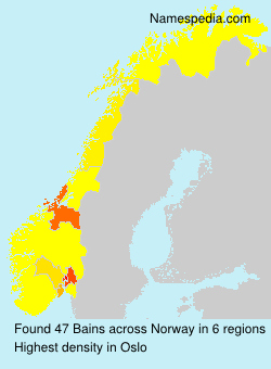 Surname Bains in Norway
