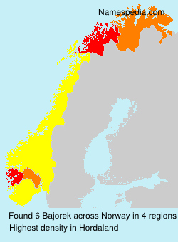 Surname Bajorek in Norway