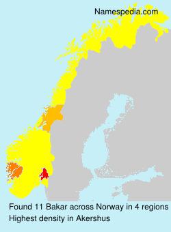 Surname Bakar in Norway