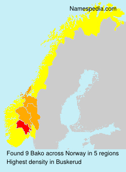Surname Bako in Norway