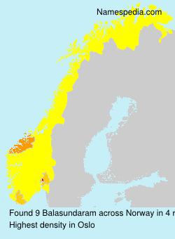 Surname Balasundaram in Norway