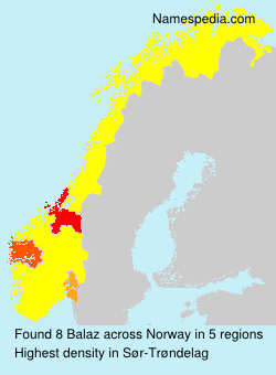 Surname Balaz in Norway