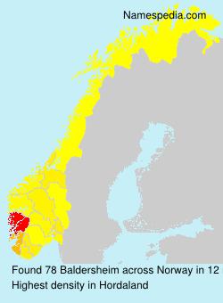 Surname Baldersheim in Norway