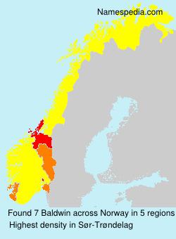 Surname Baldwin in Norway