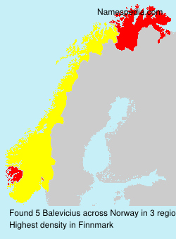 Surname Balevicius in Norway