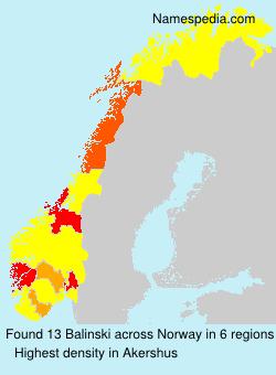 Familiennamen Balinski - Norway