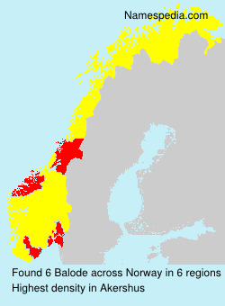 Surname Balode in Norway