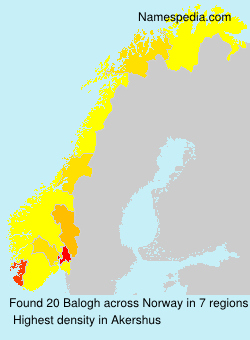 Surname Balogh in Norway