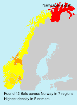 Surname Bals in Norway
