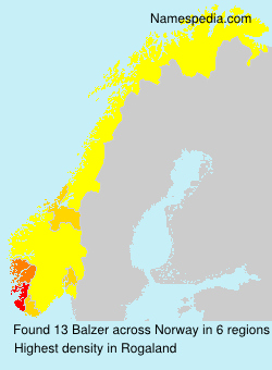 Surname Balzer in Norway