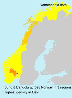 Familiennamen Bandola - Norway