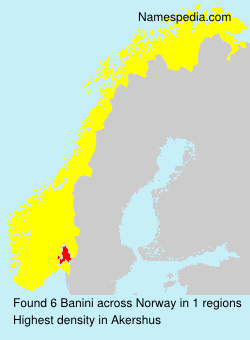 Surname Banini in Norway