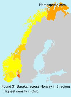 Surname Barakat in Norway