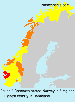 Familiennamen Baranova - Norway