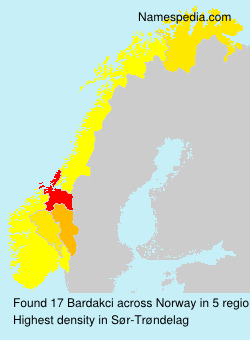 Familiennamen Bardakci - Norway