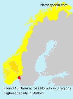Familiennamen Barm - Norway