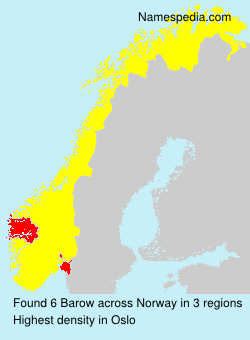 Surname Barow in Norway