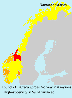 Surname Barrera in Norway