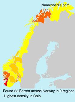 Familiennamen Barrett - Norway