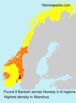 Familiennamen Bartsch - Norway
