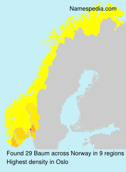 Surname Baum in Norway