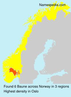 Familiennamen Baune - Norway