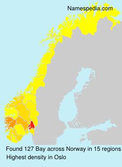 Surname Bay in Norway