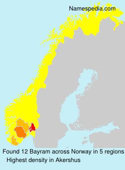 Familiennamen Bayram - Norway